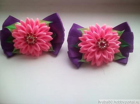 Резиночки для волос канзаши ручной работы на заказ