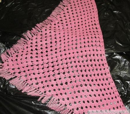 Розовая шаль ручной работы на заказ