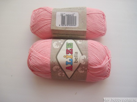 Пряжа Alize Bella (Бэлла)  32 светло-розовый ручной работы на заказ