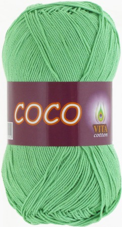 Пряжа Coco 4324 ментол ручной работы на заказ