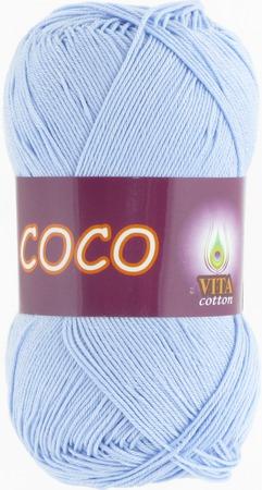 Пряжа Coco (Коко) 4323 св.голубой ручной работы на заказ