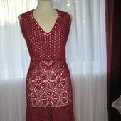 Платье крючком винного цвета