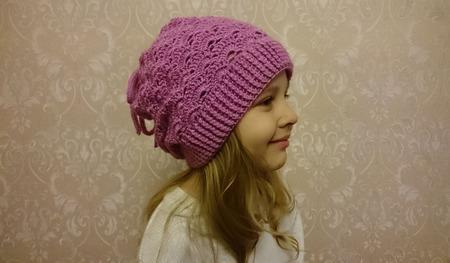 """Детская шапка """"Эми"""", шапочка детская, шапка бини вязаная ручной работы на заказ"""