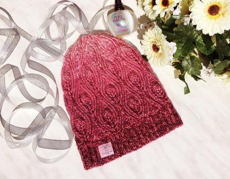 """Шапочка вязаная """"Мерцелла"""", шапка женская, шапка вязаная, теплая шапка ручной работы на заказ"""