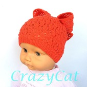 """Детская шапка """"Милашка"""", шапочка детская, шапка вязаная для девочки"""