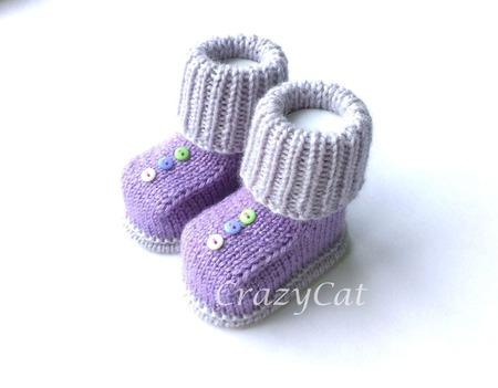 """Пинетки """"Пуговки"""", пинетки вязаные, пинетки для новорожденных ручной работы на заказ"""