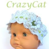 "Повязка на голову ""Pretty Girl"", повязка для волос, повязка вязаная"