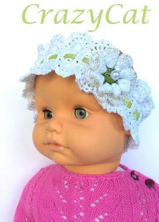 """Повязка на голову """"Pretty Girl"""", повязка для волос, повязка вязаная ручной работы на заказ"""