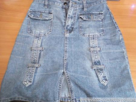 Джинсовая юбка ручной работы на заказ