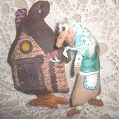 Кофейная игрушка Баба-яга и Избушка