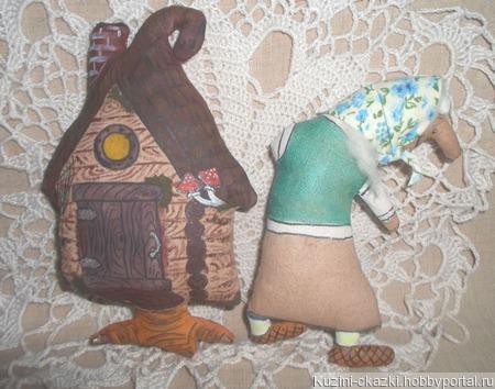 Кофейная игрушка Баба-яга и Избушка ручной работы на заказ