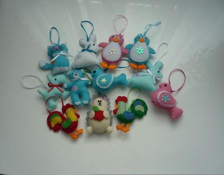 Елочные игрушки из фетра ручной работы на заказ