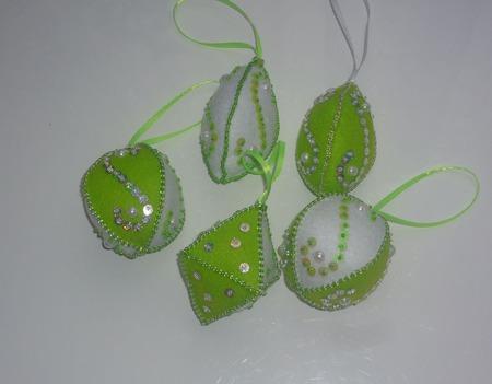 Елочные игрушки из фетра Объемные ручной работы на заказ