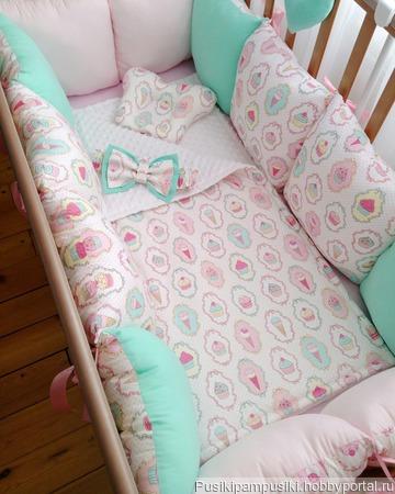 Бортики в кроватку для новорожденных, Россия ручной работы на заказ