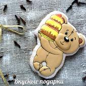 Пряник мишка с тортом
