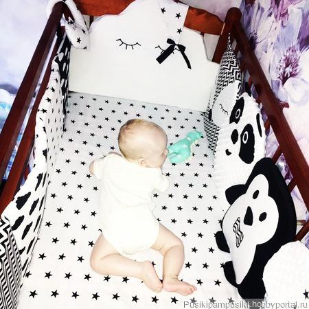 Бортики-игрушки в кроватку для новорожденных ручной работы на заказ