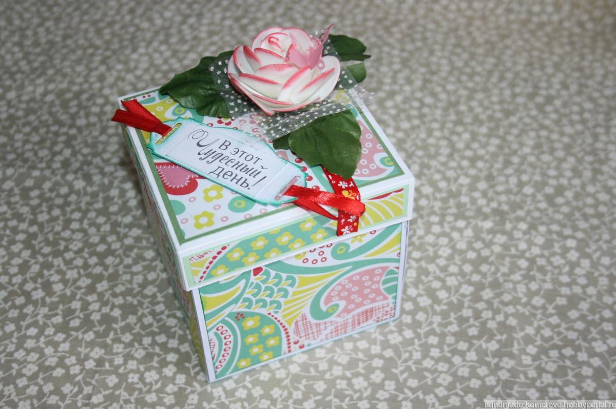 коробочка на шоколадку на заказ