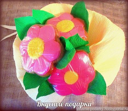 Пряничные цветы ручной работы на заказ