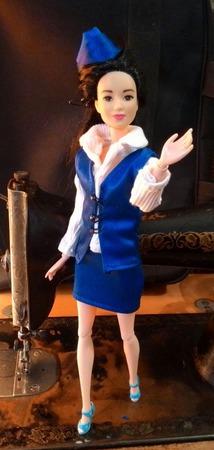 Костюм бортпроводницы для Барби ручной работы на заказ