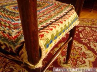 Сидушка на стул с бортиком. ручной работы на заказ