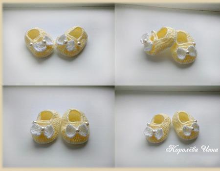 Пинетки с бантиком ручной работы на заказ