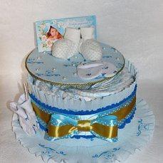 Торт из памперсов(малый) ручной работы на заказ