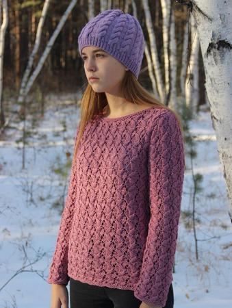 """Пуловер """"Пыльная роза"""" ручной работы на заказ"""