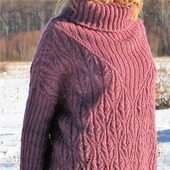 "Вязаный свитер оверсайз ""Зимний вереск"""