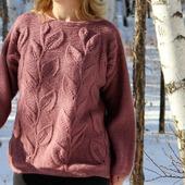 """Вязаный пуловер """"Листья"""""""