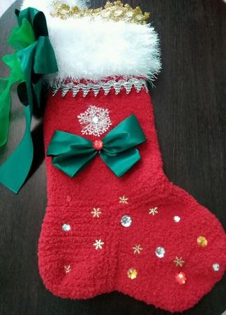 Носок новогодний ручной работы на заказ