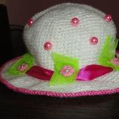 Шляпа на девочку крючком. Маленькая леди.