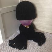 Комплект осенний шапочка и шарфик