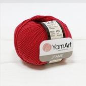 Пряжа Jeans 51 т.красный