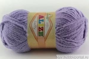 Пряжа Alize Softy (Софти) 158 светло-сиреневый ручной работы на заказ
