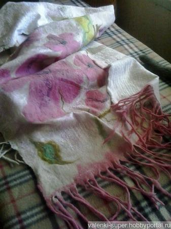 Палантин Цветочная поляна ручной работы на заказ