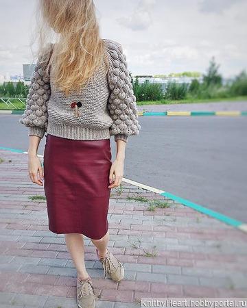 Вязаный свитер женский ручной работы ручной работы на заказ