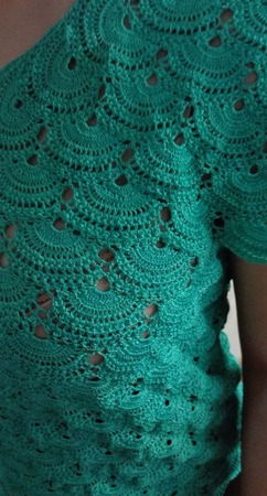 Ажурная вязаная блузка крючком ручной работы на заказ
