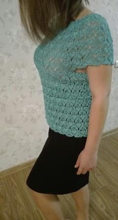 """Ажурная блузка """"Нежность"""" ручной работы на заказ"""