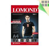 Термотрансферная бумага Lomond для темных тканей, 10 шт., A4, Ломонд