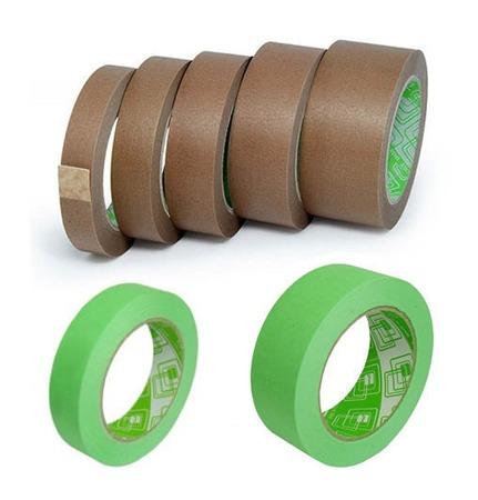 Скотч бумажный крафт 45 м, клейкая лента бумажная коричневая, зеленая ручной работы на заказ