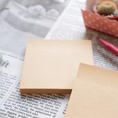 Блок для записей крафт самоклеящийся, 76х76 мм, клейкая крафт бумага