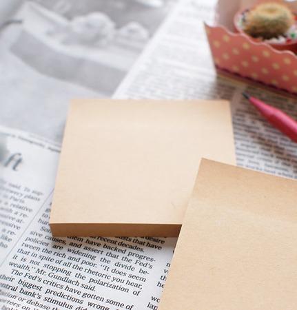 Блок для записей крафт самоклеящийся, 76х76 мм, клейкая крафт бумага ручной работы на заказ