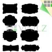 Этикетки для письма мелом (грифельные наклейки, фигурные стикеры, 8 шт