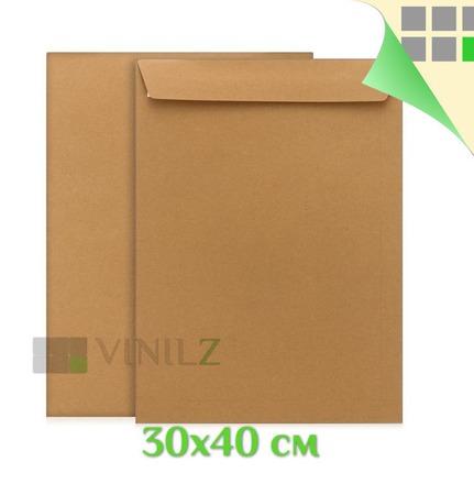 Крафт пакет 30х40 см, большой, плотный (крафт конверт, E4, 100 г/м2) ручной работы на заказ