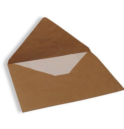Крафт конверт 39х29 см, большой, треугольный клапан (Е4, коричневый) ручной работы на заказ