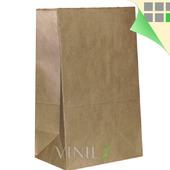 Крафт пакет 30х18х11см, бумажный, прямоугольное дно, большой