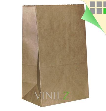 Крафт пакет 30х18х11см, бумажный, прямоугольное дно, большой ручной работы на заказ