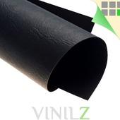 Дизайнерская бумага черная (картон) А4, фактура кожа, черная  230 г/м2