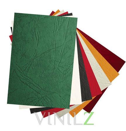 Дизайнерская бумага черная (картон) А4, фактура кожа, черная  230 г/м2 ручной работы на заказ