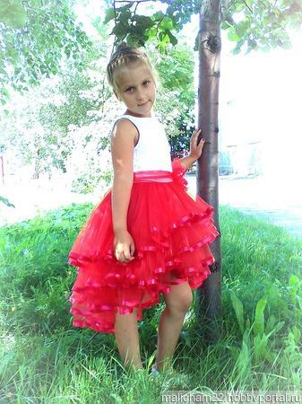 Платье нарядное для девочки ручной работы на заказ